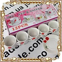 Сервиз чайный Cup&Saucer 12 пр. Мак 200 мл., керамика № 53321