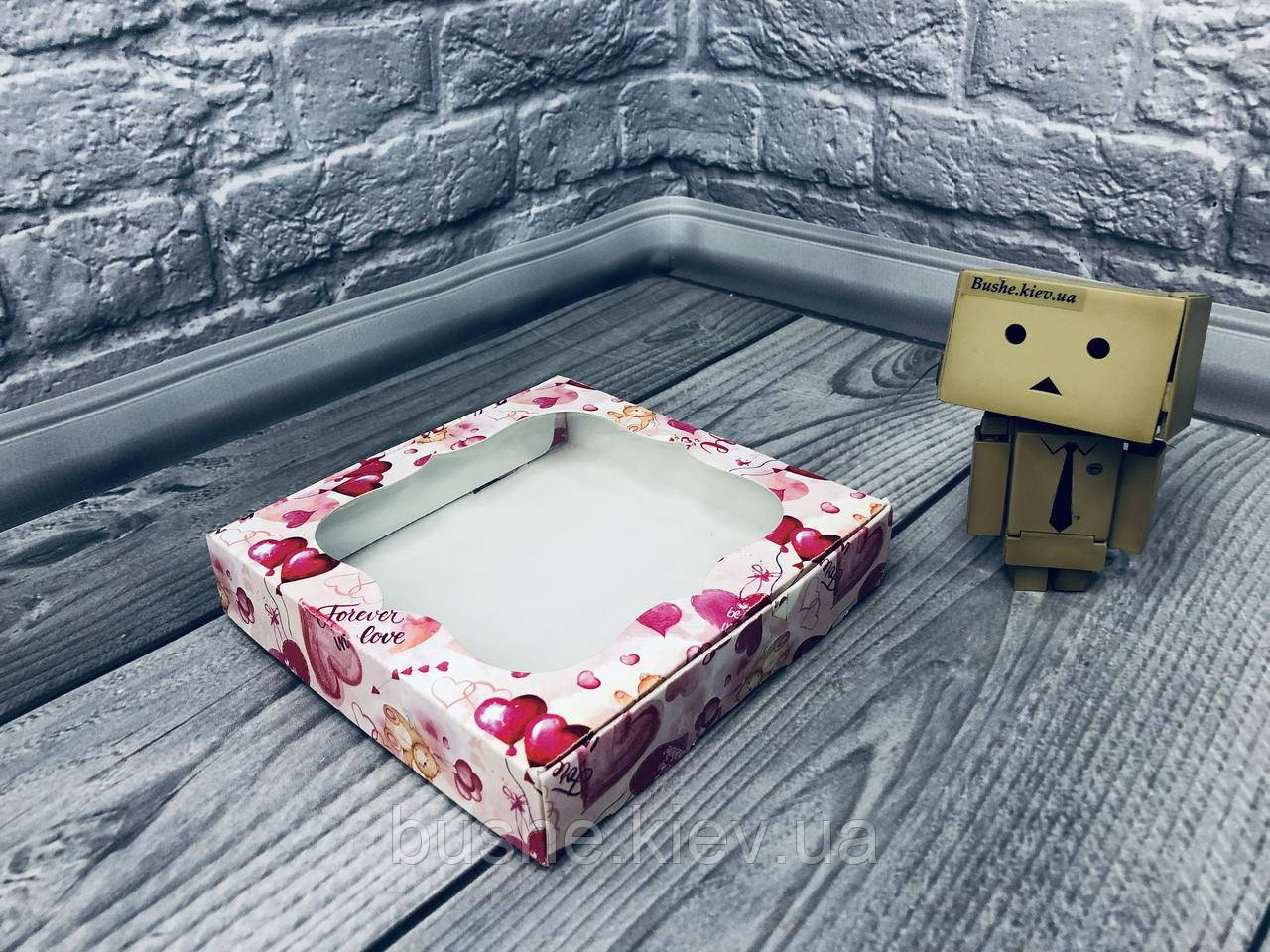 *10 шт* / Коробка для пряников / 150х150х30 мм / печать-Мишарики / окно-обычн / лк