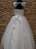 Сукня дитяча святкова біла з фатиновою спідницею на 7-10 років, фото 2