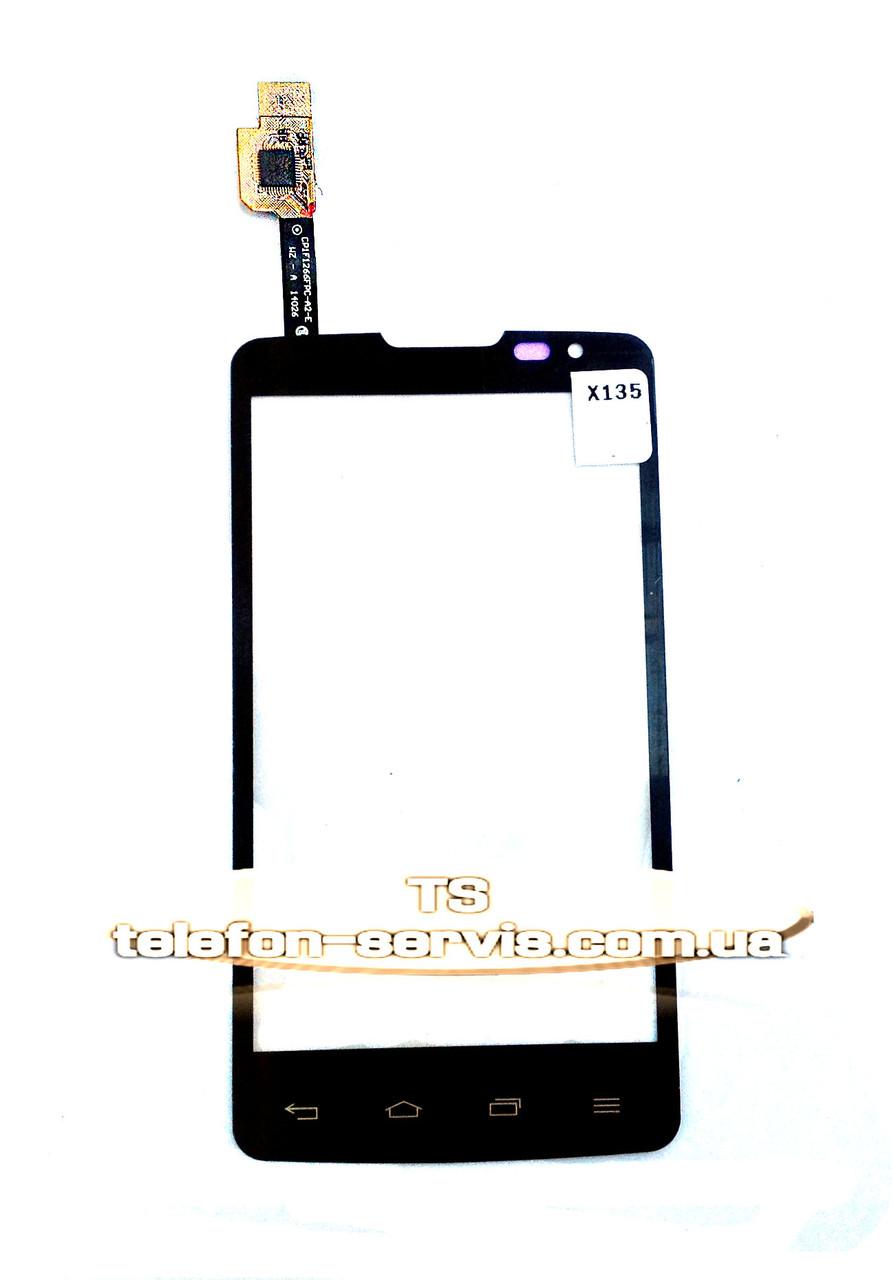 Сенсорный экран для LG X135 Optimus L60 Dual, черный