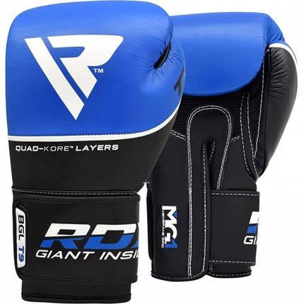 Боксерские перчатки RDX Quad Kore Blue 14 ун., фото 2