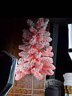 Елка искусственная розовая с искусственным снегом, фото 5