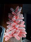 Елка искусственная розовая с искусственным снегом, фото 3