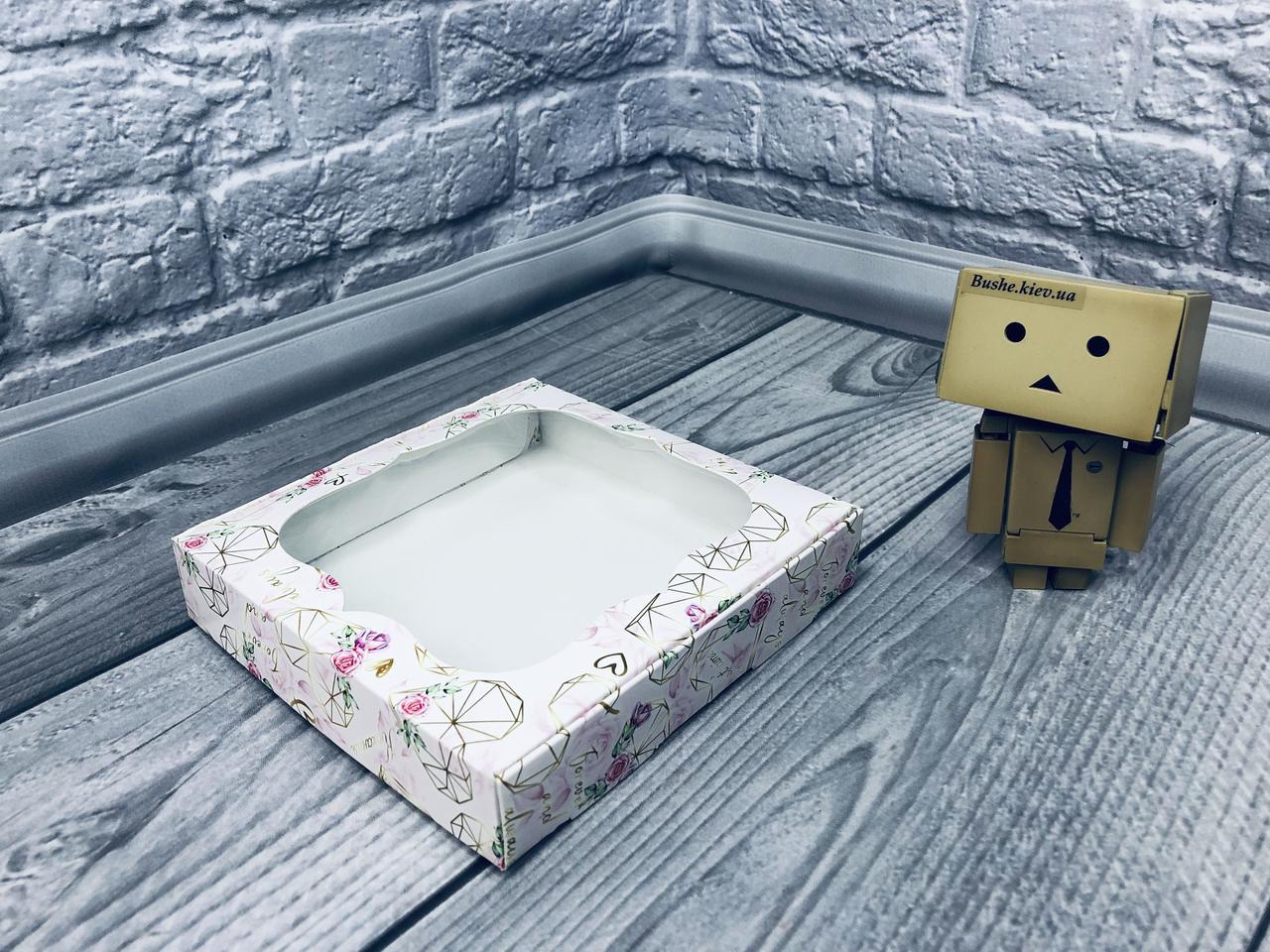 *10 шт* / Коробка для пряников / 150х150х30 мм / печать-КристальноеСердце/ окно-обычн / лк