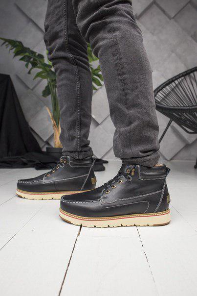 Мужские ботинки из натурального замша