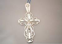Серебреный ажурный крест 925 пробы