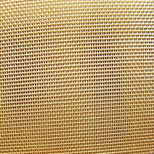 Сетка латунная 0,08x0,08x0,055мм (Ширина 1м)