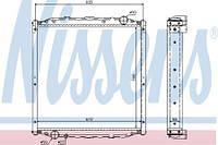 Радиатор охлаждения MAN L2000 (93-)  85061016010  (без рамки)