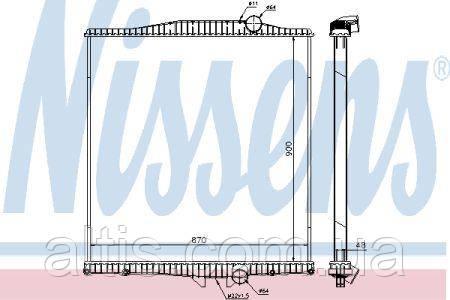 Радиатор охлаждения (без рамки)  VOLVO FH 12(93-) 1276435
