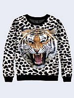 Свитшот женский Леопардовый тигр