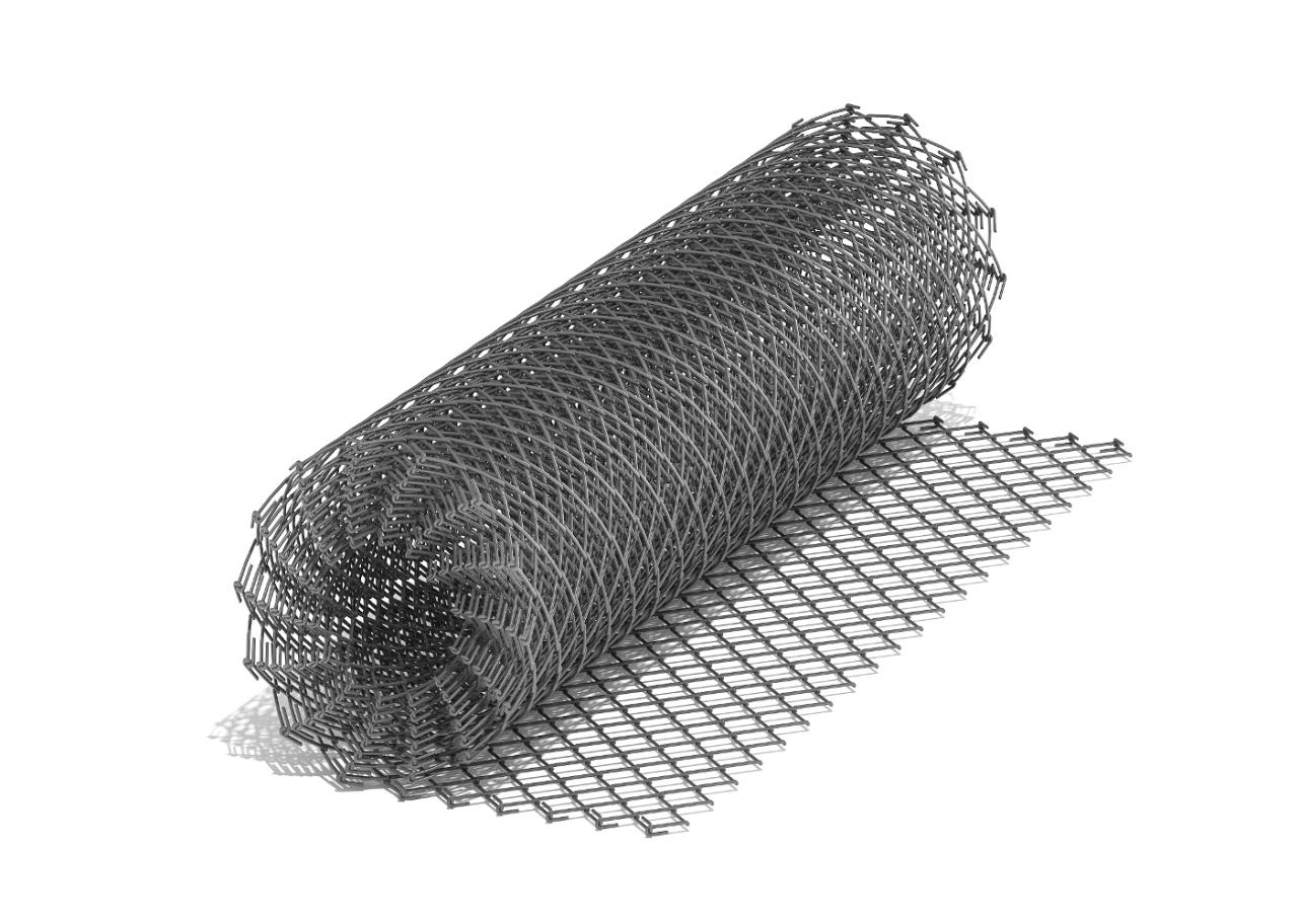 Сетка рабица оцинкованная 50x50x2мм (Ширина 1,2м)