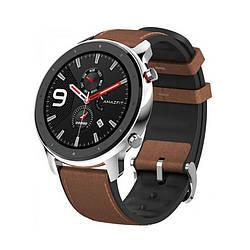 Смарт часы 47мм Xiaomi Huami Amazfit GTR 1.39 экран GPS + ГЛОНАСС 40 ч водонепроницаемые Silver (A1902)