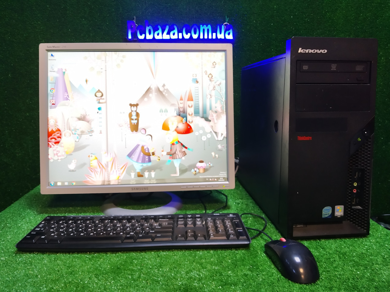"Комплект игровой  Lenovo, 4 ядра, 4 ГБ, 500 Гб HDD, Quadro 2000 1GB (GTS 450) + 22"" монитор Samsung  214t"