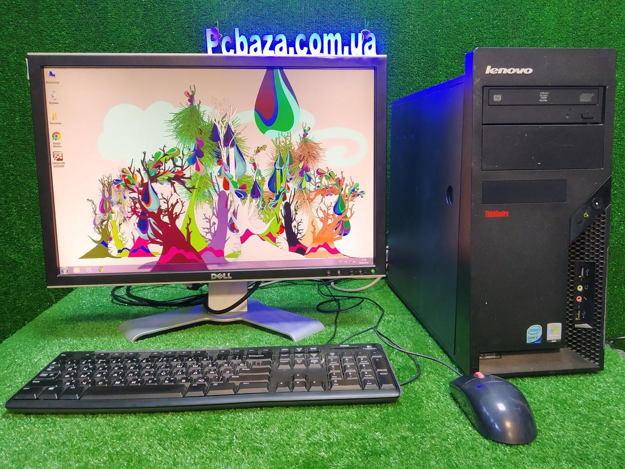 """Комплект игровой Lenovo, 4 ядра, 4 ГБ, 500 Гб HDD, Quadro 2000 1GB (GTS 450) +монитор 22"""" Dell"""