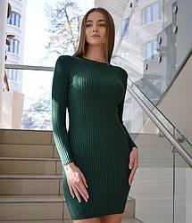 Базовое трикотажное короткое платье