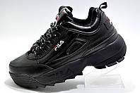 Зимние кроссовки в стиле Fila Disruptor 2, All Black (Черные)