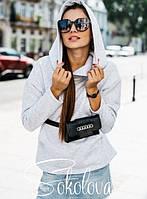 Толстовка женская с капюшоном 44, Черный