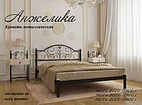 Кровать металлическая полуторная Анжелика