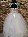 Платье детское нарядное белое с фатиновой юбкой на 5-7 лет, фото 2