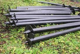 Свая винтовая одновитковая Ø102 мм.2000 мм.