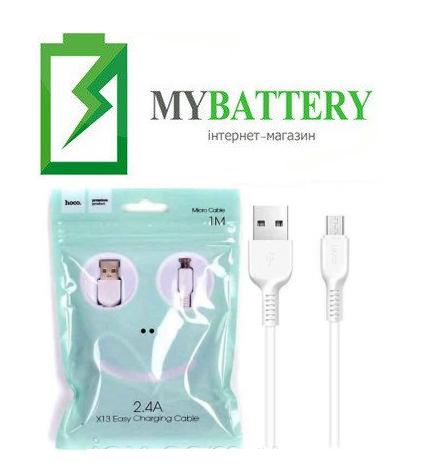 USB кабель Hoco X13 Easy Micro USB (1000mm), 2.4A белый