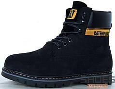 Зимние женские ботинки Caterpillar Boots Black с мехом
