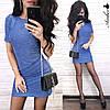 Шикарное облегающее платье мини люрекс, фото 2