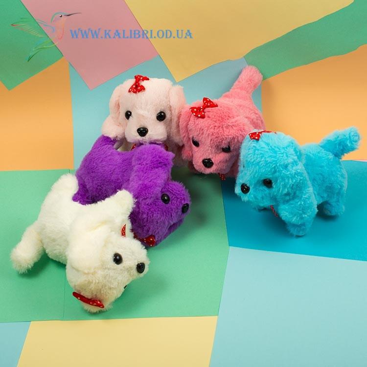 Мягкая игрушка собачка механическая, игрушка собачка ходит и лает, собачка ходилка CO-5-3