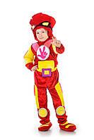 Детский карнавальный костюм Фиксики Фаер на рост 100-110, 115-125, 130-140 см
