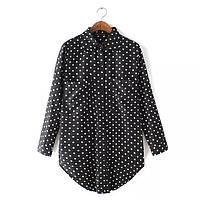 Блузка рубашка в горох, фото 1