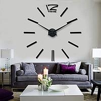 Настенные 3D часы Time Black, фото 1