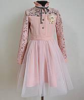 Нарядное платье для девочки 122 размер с фатиновой юбкой детское