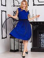 Обворожительное платье, комбинированное с сеткой
