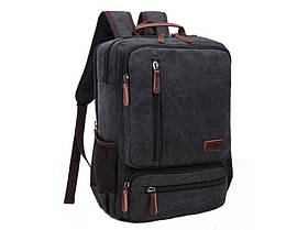 Мужской рюкзак  с кожаными вставками  8814A