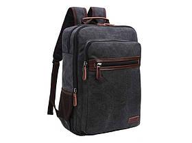 Мужской рюкзак  с кожаными вставками  8815A