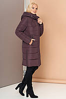 Довга зимова куртка VS 188, шоколад