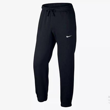 Спортивные штаны черные теплые Nike (Найк), фото 2