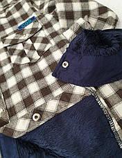 Рубашка теплая на меху 116,164 роста в клетку для мальчиков Чегиза, фото 2