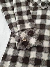 Рубашка теплая на меху 116,164 роста в клетку для мальчиков Чегиза, фото 3