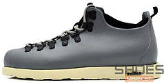 Зимние мужские кроссовки Native Fitzsimmons Grey с мехом