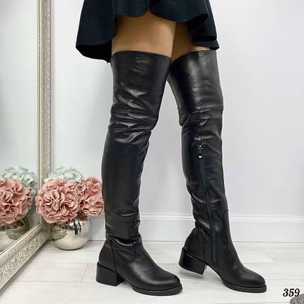 Сапоги ботфорты кожаные, фото 2
