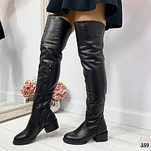 Сапоги ботфорты кожаные, фото 3