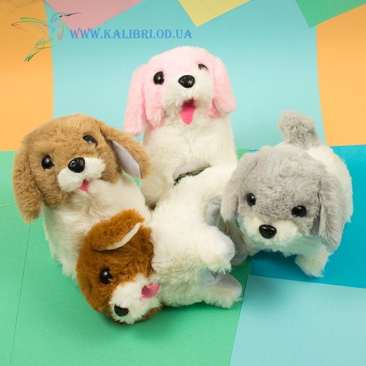 Мягкая игрушка собачка механическая, игрушка собачка ходит и лает, собачка ходилка CO-5-11