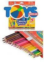 Карандаши треугольные, цветные, 48 цветов, 51705PTR