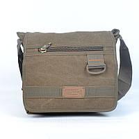 Модная молодежная брезентовая сумка через плечо GOLD BE! - Код 107 - (песок)