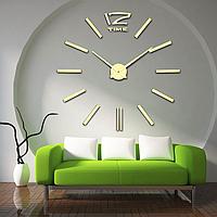 Настенные 3D часы Time Gold