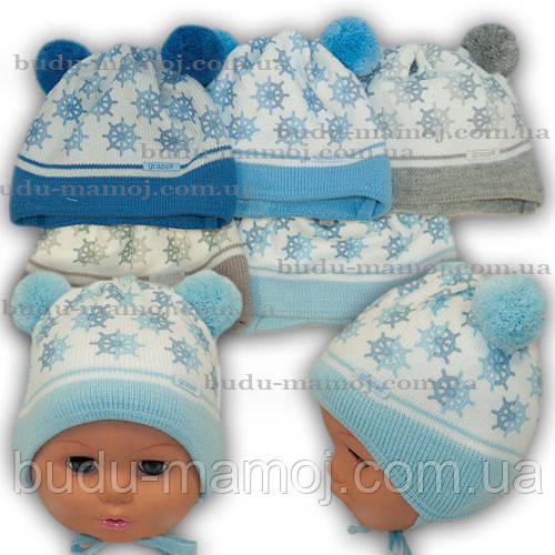 Шапочка для новорожденных в роддом и для прогулок Люкс Польша