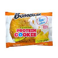 Низкокалорийное протеиновое печенье, Апельсин-имбирь, 40 грамм, Bombbar