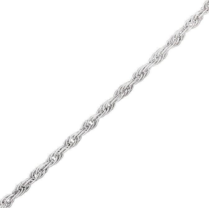 Серебряная цепочка ВЕРЕВКА, ЖГУТИК 1.8 мм размер 45 см