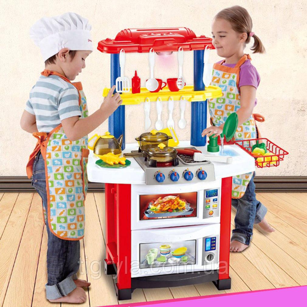 ДВУХСТОРОННЯЯ детская большая Кухня высотой 83см с настоящей водой